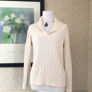 Ladies Collar Cable Sweater